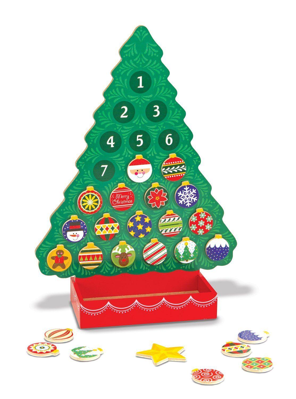 Calendario de Adviento con forma deárbol de Navidad