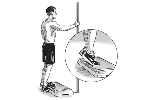 calf raise off a step
