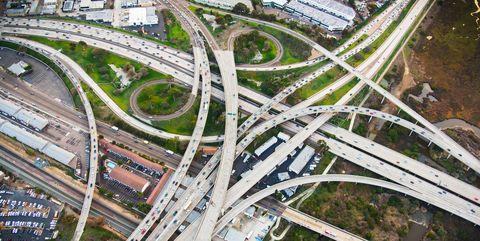 California Freeway Interchage - San Diego