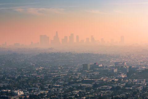 USA, California, Los Angeles, smog over Los Angeles