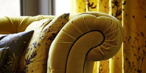 Callista Burnet Silk Fabric - mustard interiors
