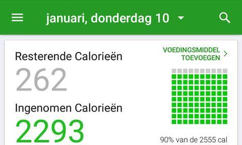 afvallen, app, fatsecret. calorie, calorieteller