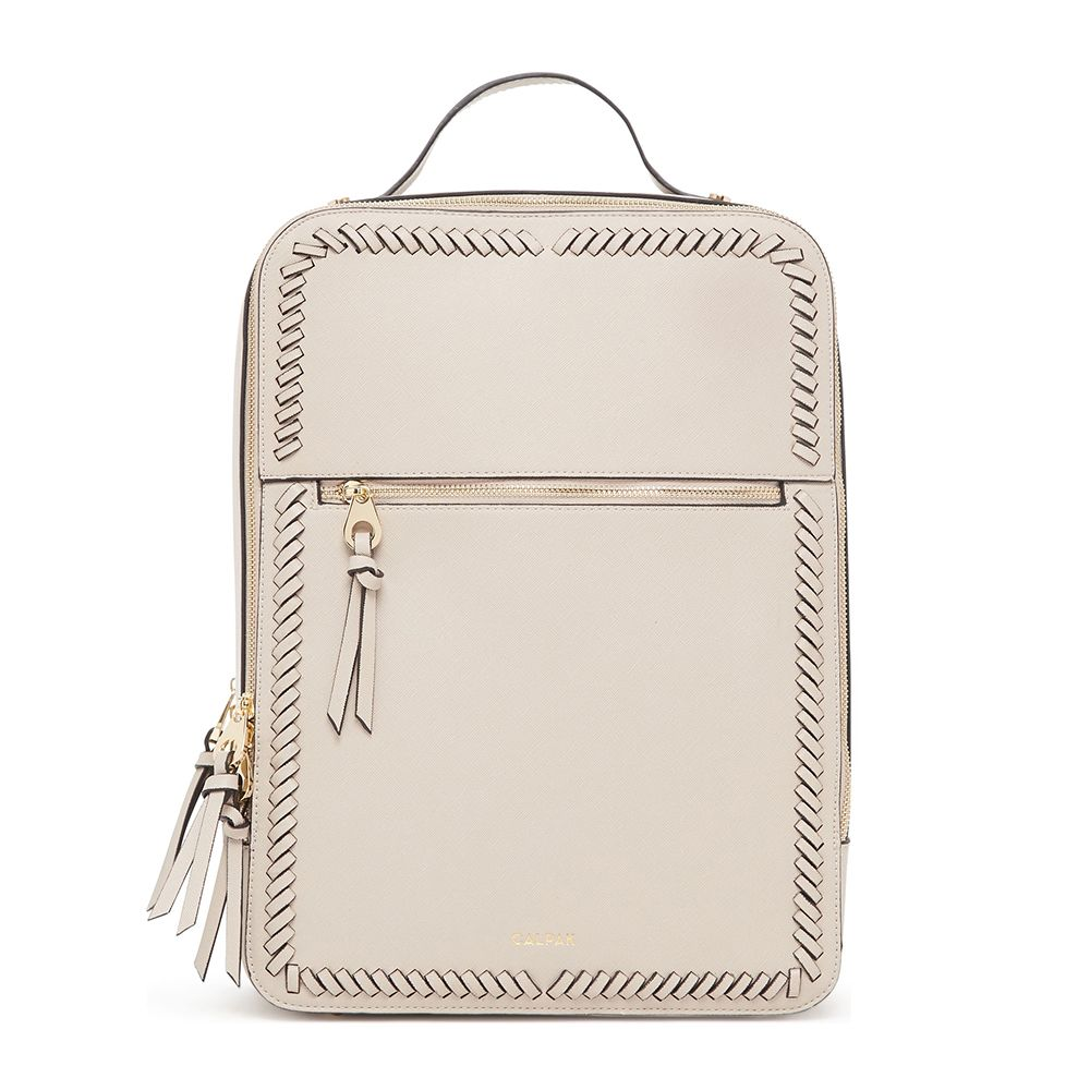 calpak kaya faux leather backpack
