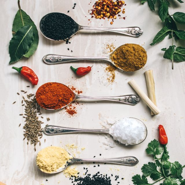 Food, Spice, Spice mix, Ingredient, Herb, Mortar and pestle, Seasoning, Cuisine, Leaf vegetable, Plant,