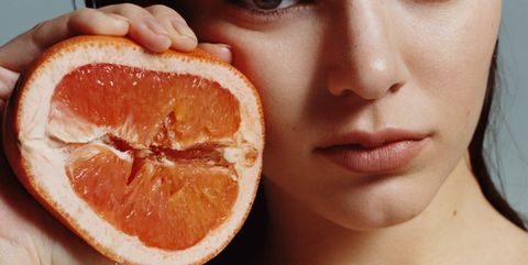 Lip, Cheek, Skin, Chin, Citrus, Orange, Tangerine, Fruit, Food, Grapefruit,