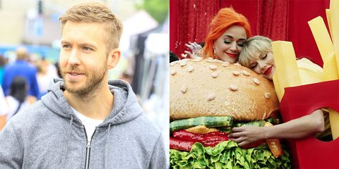 Calvin Harris, Katy Perry, and Taylor Swift