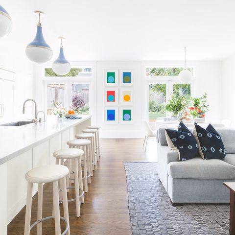 White, Room, Furniture, Interior design, Property, Living room, Blue, Green, Home, Yellow,