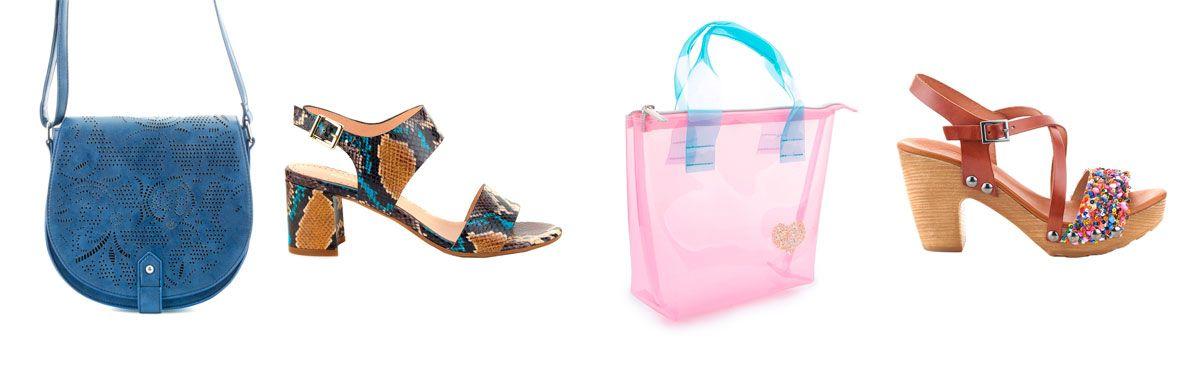 Descubre los zapatos y bolsos más de moda para el verano