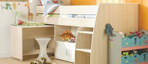 Cama infantil con muebles extraíbles