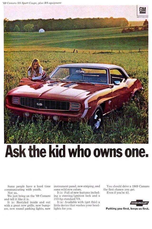 1969 chevrolet camaro magazine ad