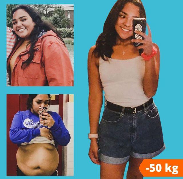 antes y después de perder peso