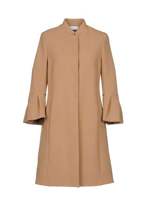 Flute sleeve camel coat by Kaos
