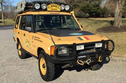 One Of The Actual Camel Trophy Land Rovers Is For Sale In New York