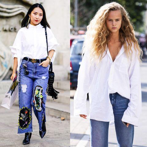 Scopri gli outfit con camicia bianca più belli per l'inverno 2019, guarda le camicie di tendenza e scopri come abbinarle prendendo ispirazione dallo streetwear.