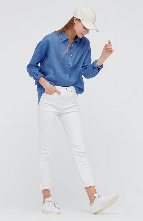 dalla camicia bianca a quella rosa e lilla, le camicie chic di questa estate sono 100 x 100 lino, ariose, leggere da abbinare a pantaloni, bermuda e gonne e costumi