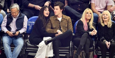 Celebrities At The Los Angeles Clippers Game