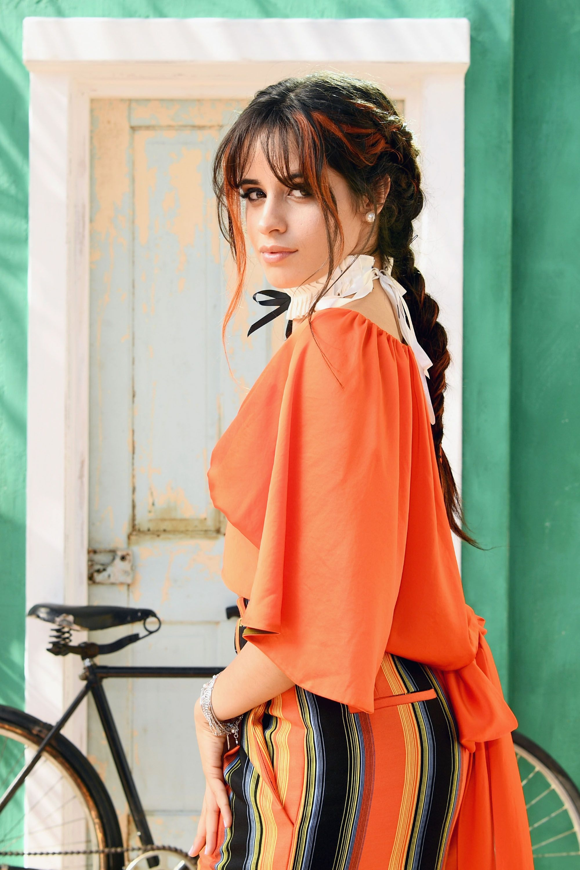 Camila Cabello Dyed bangs plus two French braids?