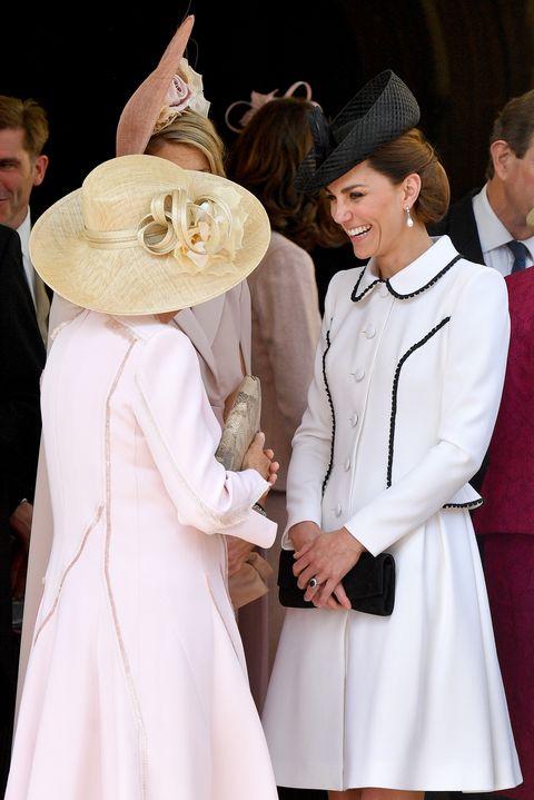 kate middleton camilla parker bowles Order Of The Garter Service At Windsor Castle