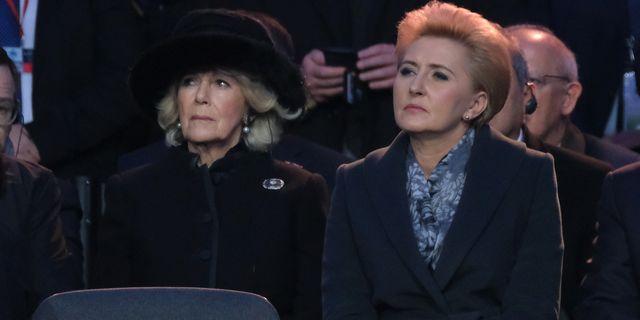 Camilla, Duchess of Cornwall, Meets with Holocaust Survivors at Auschwitz-Birkenau