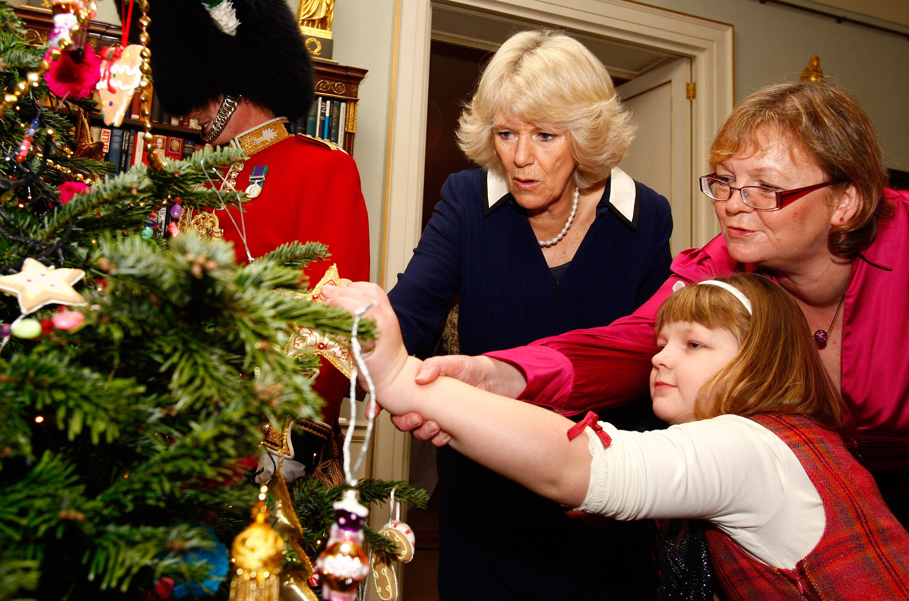 The Duchess Of Cornwall Decorates The Christmas Tree At Clarence House