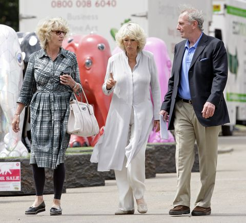 the duchess of cornwall visits  the elephant parade