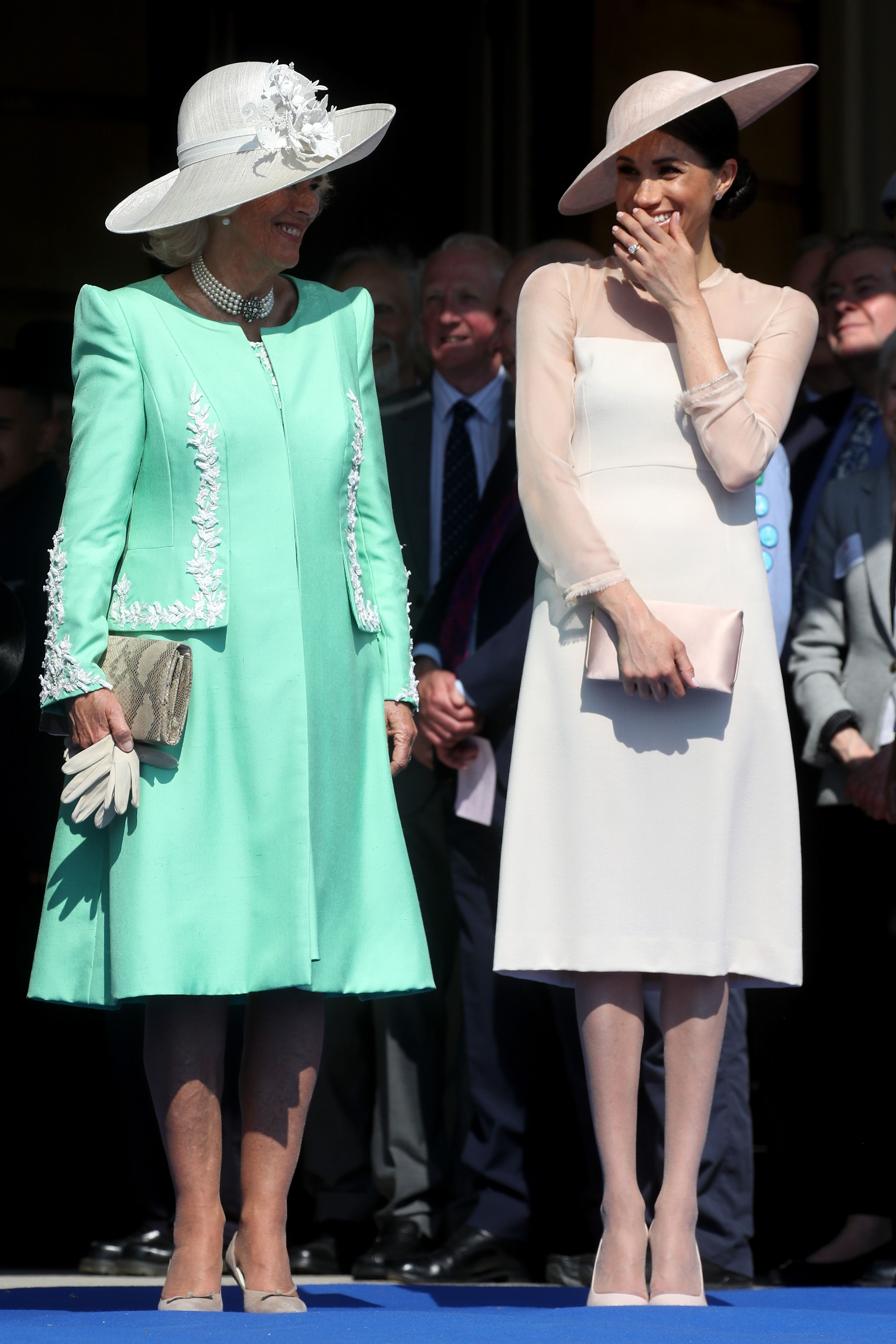 Why Meghan Markle and Camilla Were Giggling Like School Children Today f198e51a08a9