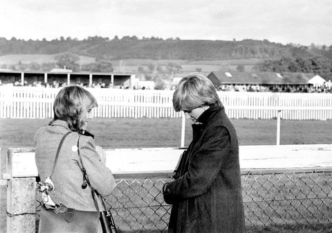 camilla parker bowles and diana at ludlow racecourse