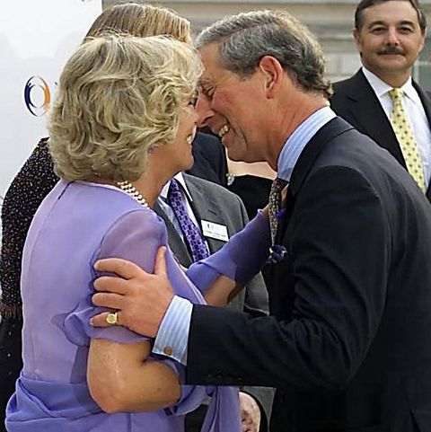 First Public Kiss Between Camilla Parker-Bowles and Prince Charles