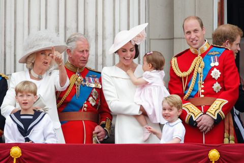 camilla, prince george, and princess charlotte at the 2016 trooping of the color