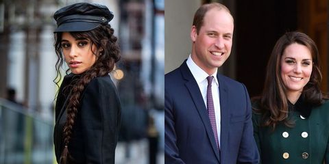 Camila Cabello, Prince William, and Kate Middleton