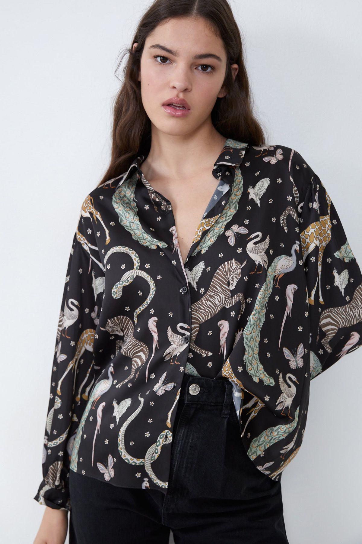 camisa animales zara 2019