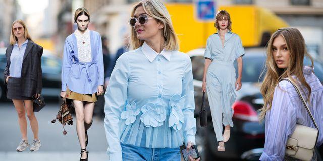 camisa azul blusa