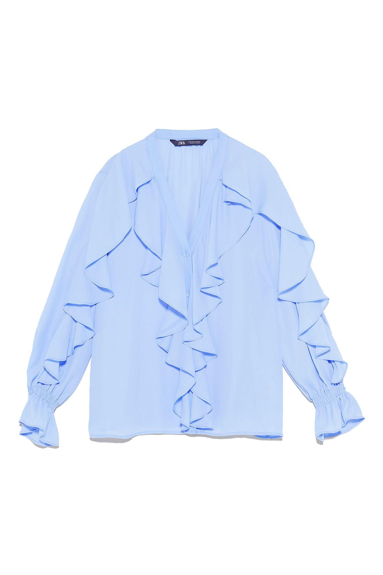 La camisa blanca de encaje de Zara más vendida de la