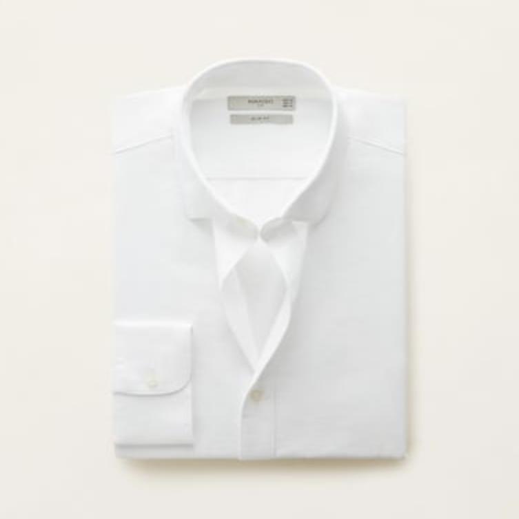 Camisa blanca Mango hombre, camisa blanca hombre