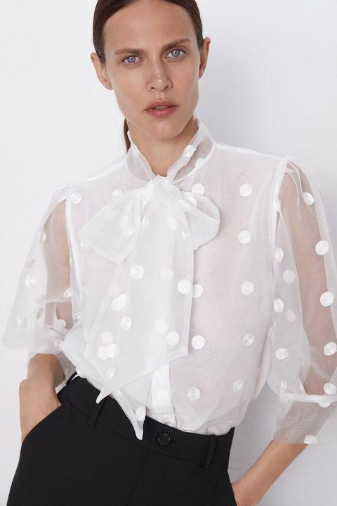 atarse en mejor venta nueva llegada Camisas blancas de Zara para volver al trabajo con estilo