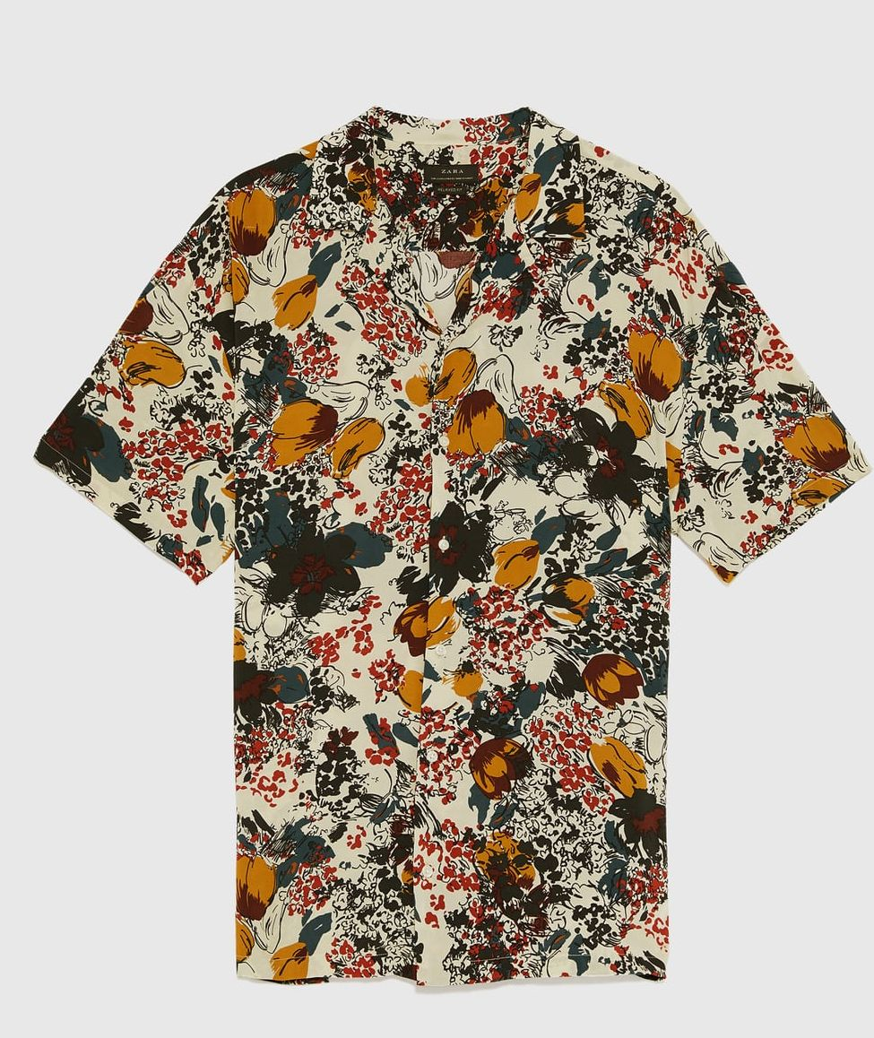 camisa bowling zara