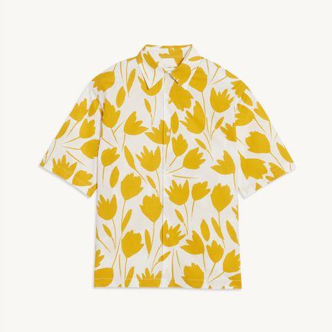 camisa con estampado de flores de sandro 99 euros
