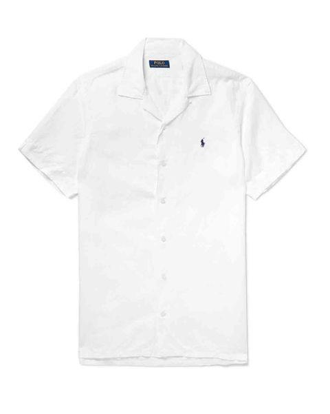Camisa blanca de linoPolo Ralph Lauren