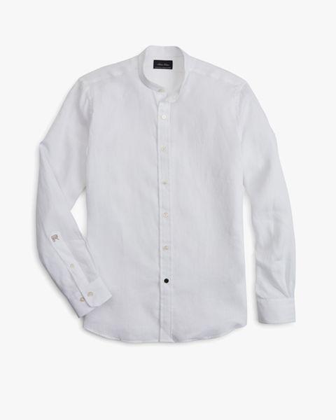 Camisa de lino de Riccardo Pozzoli para Brooks Brothers (169 euros).