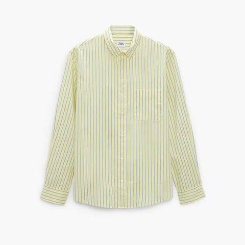 camisa de rayas de zara 29,95 euros