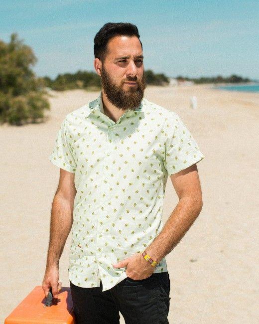 brava fabrics camisa estampada hombre