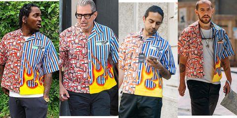 camisa fea prada, camisa llamas prada, camisa estampada prada, camisa hortera prada, ugly shirt prada