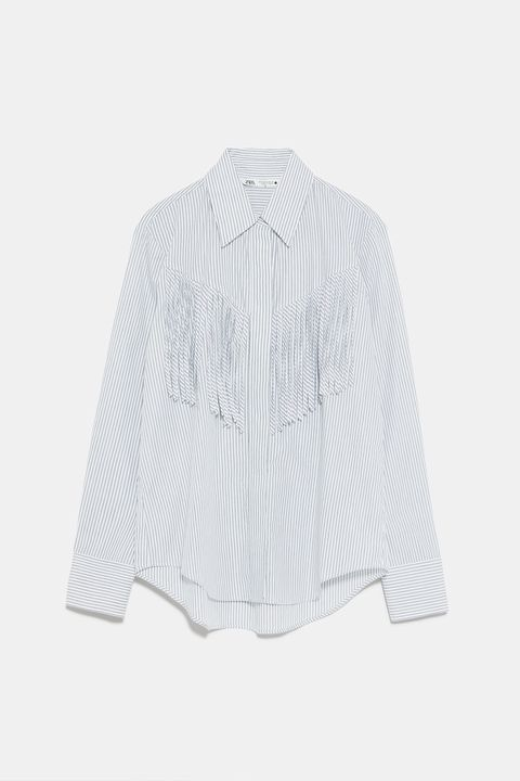 Clothing, White, Sleeve, Collar, Outerwear, Blouse, Shirt, Button, Top, Neck,