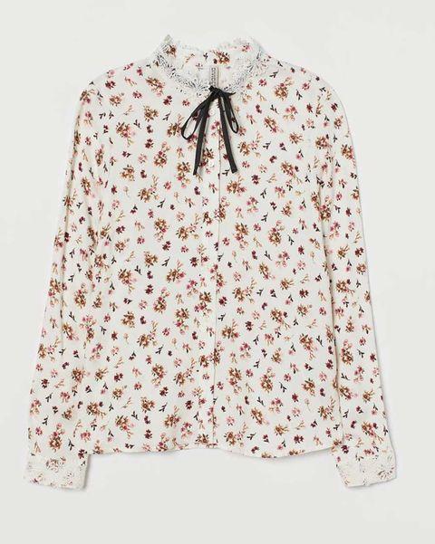 camisa flores lazada hm