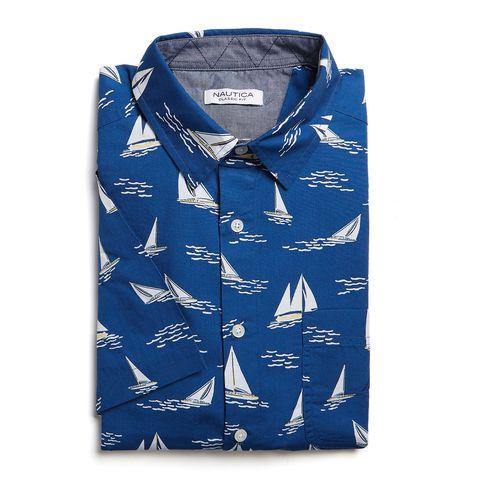 camisa, nautica, estilo marinero