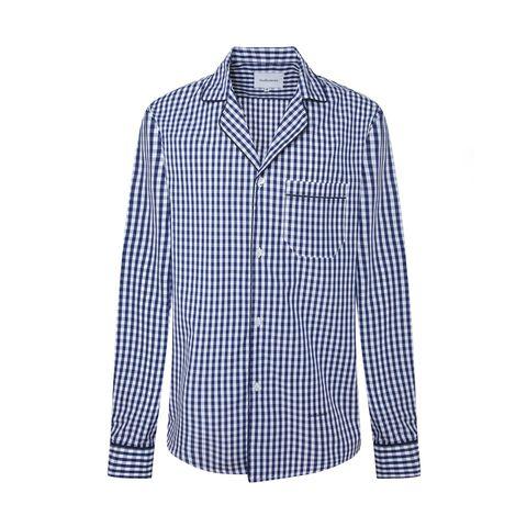camisa pijamera con estampado de vichy de avellaneda 90 euros