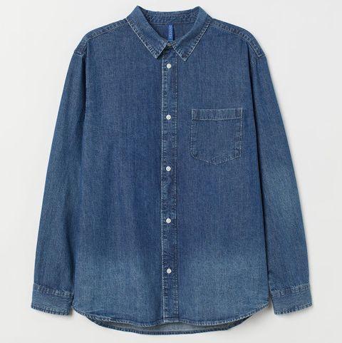 Camisa vaquera H&M, camisa vaquera hombre