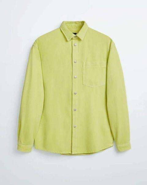 camisa verde lima lino