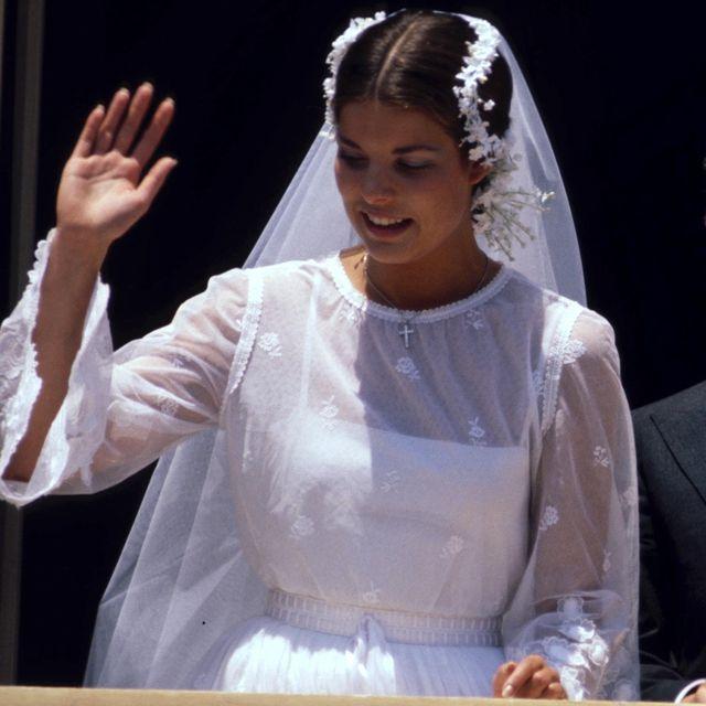 vestido de novia de carolina de mónaco