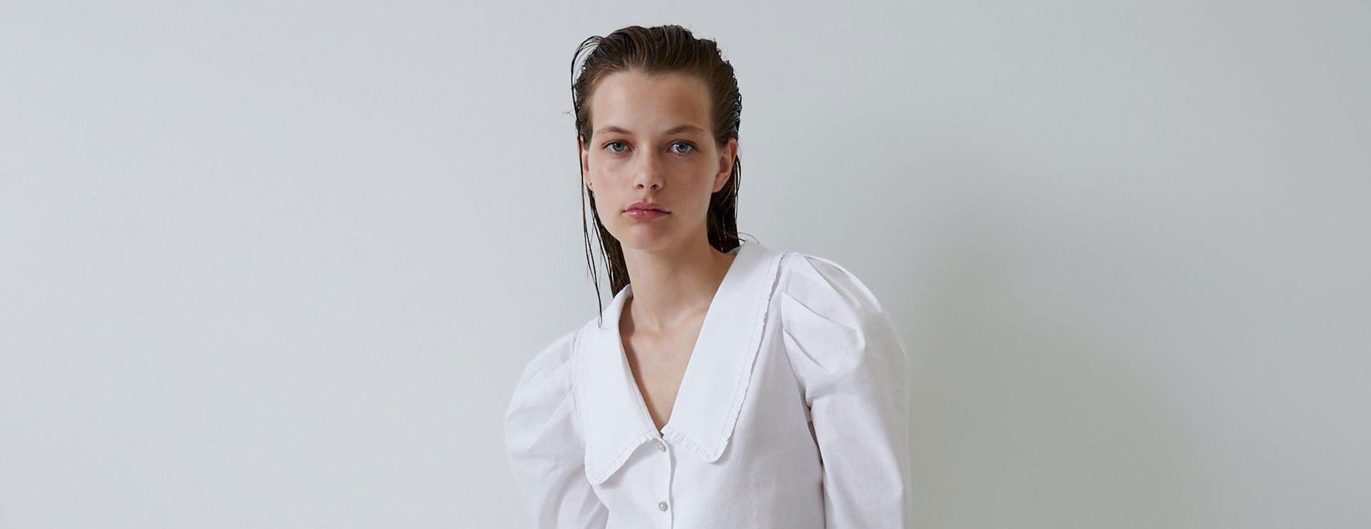 camisa celeste zara mujer combinar